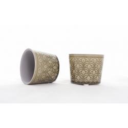 DUKE - Cache-Pot Vert D7,5 x H6 cm