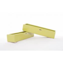 Céramique Verte Rectangulaire 25x7 h 5 cm par 4
