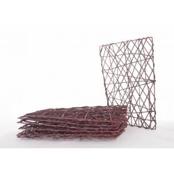 Cadre en Rotin Carré 20x20 cm Marron par 7