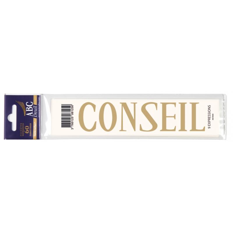 Lettre Deuil CONSEIL Pochette