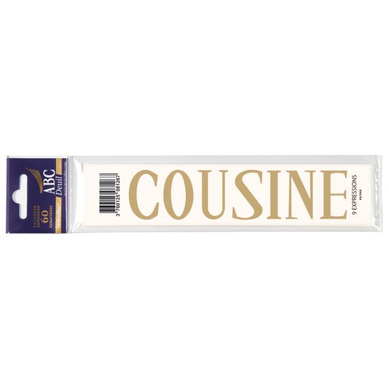 Lettre Deuil COUSINE Pochette