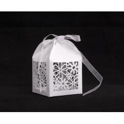 BOÎTE À DRAGÉES - Boîte en Carton L5 x H7,5 cm Blanc par 20