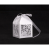 Boîte Dragée Carton d5 h7,5 cm Blanc par 20