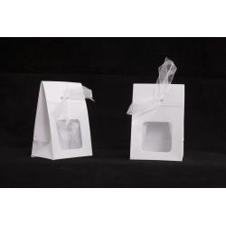 Etui polypro a/Ruban 4x6 h9 cm Blanc par 10