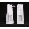 Etui polypro a/Ruban 4x5 h15 cm Blanc par 10