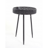 Table Ronde Noire h58D40cm