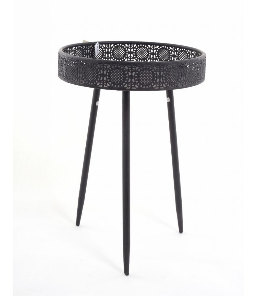 AINI   Table Ronde Noire H58 X D40cm. U003e