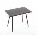 Table Rectangle Noire l60x35xh49.5cm