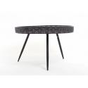 Table Ronde Noire h45.5D70cm