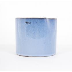 "Pot Rond Bleu""Icy"" 12 x h10 cm"