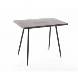 EVY - TABLE RECTANGLE NOIRE L50 X P30 X H40 cm