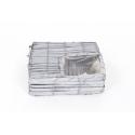 Vannerie Pleine Carrée Avec Trou 20x6cm