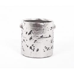 GIAN - Pot Argent Mat D13 x H12.5 cm