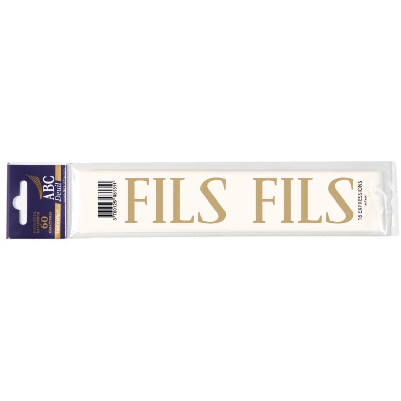 Lettre Deuil FILS Pochette