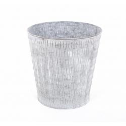 JOAS - Cache Pot Zinc D22 x H22 cm