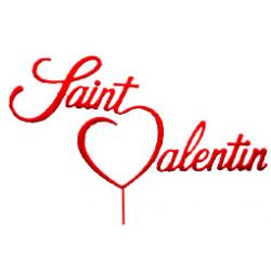 """Pique plastique """"St Valentin"""" Rouge/Blanc x 24"""