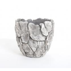 ROCK - Pot Rond Cailloux D18 x H17.5 cm