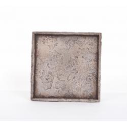 """Plateau""""Antica""""28x28h2.5cm Gris"""