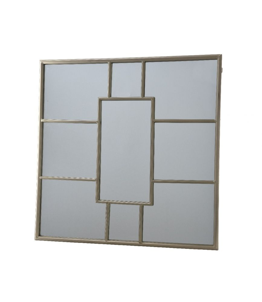 Miroir en fer or 2 x 80 x 80 cm for Miroir 80 x 90