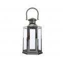 Lanterne en Argent avec Anses d 33 x h 85 cm