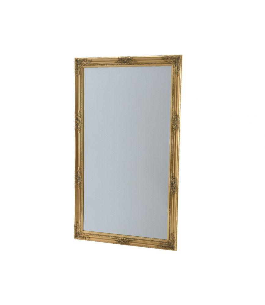 Miroir en bois or 3 8 x 83 x 143 cm for Miroir deco bois