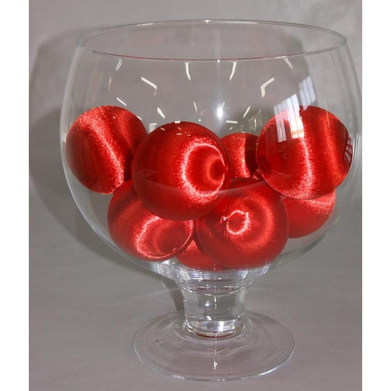 Boules soie 75mm ptx9pc Rouge