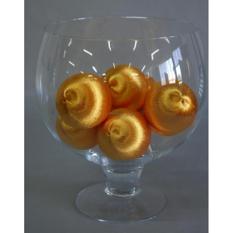 Boules soie 75mm ptx9pc Orange