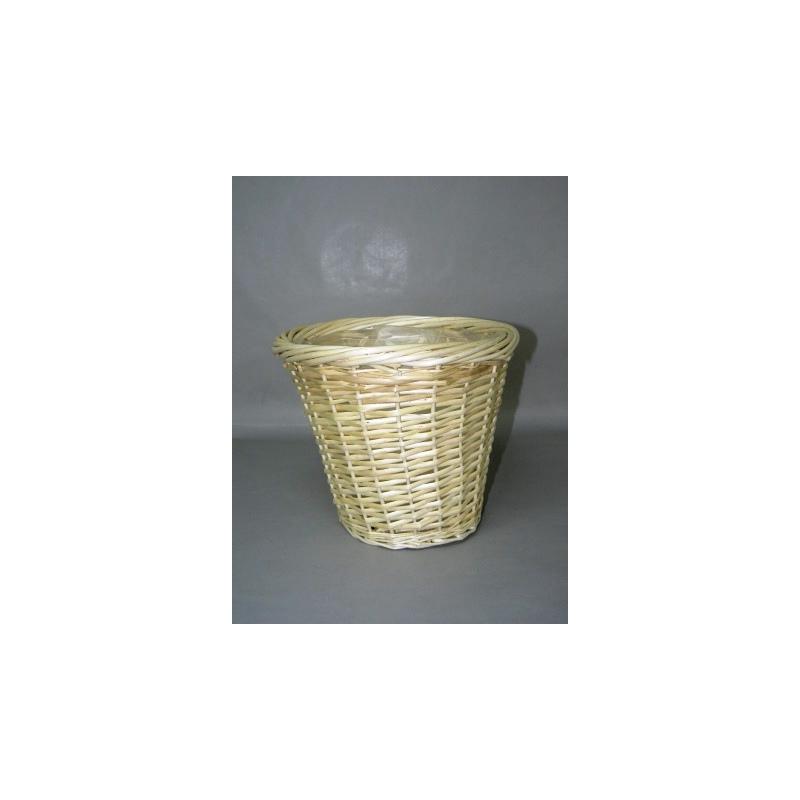 Cache-pot osier naturel D28 H24 cm