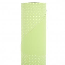 Opaline Baby Pois 0.80x40 m Vert / Blanc