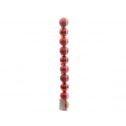 Boule 60mm brillant-mat Rouge ass. par 10