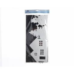 Bordure de Fenetre Maison/Arbre en Feutrine 100 x 25 cm