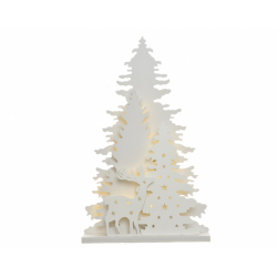 Arbre Blanc à Led Décor Animal 6 x 30 x 46 cm