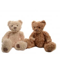Ours en peluche h22 cm Brun ou Beige