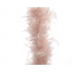 Guirlande de plumes 184 cm Rose Poudrée