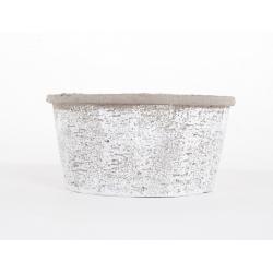 Coupe en Ciment Blanchi d 21 x h 10 cm