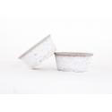 Coupe en Ciment Blanchi d 18.5 x h 8 cm
