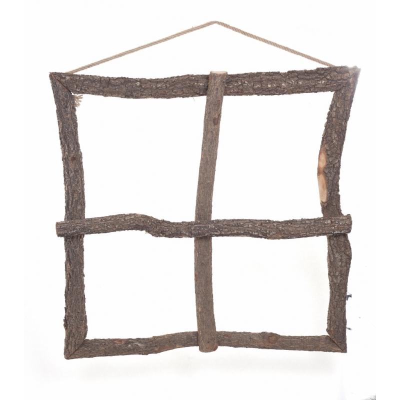 Fenêtre Ecorce carrée 1 m x 1 m