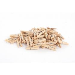 Epingles à linge en bois h 2.5 cm par 72 pièces