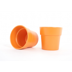 ARTIKEL - Cache-pot Orange Mat d13.5 h12.5 cm t par 6
