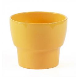 Cache-pot céramique D12 H9 Jaune (x 9)