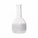 Vase Transparent avec Strass H 16 x D 3.5 cm