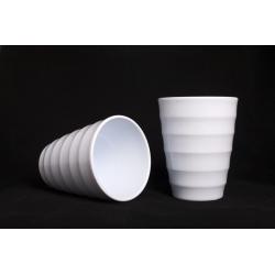 Cache-pot d14 h17 cm Blanc par 6