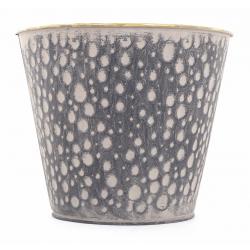 JIMO - Cache Pot Zinc Brun Or D12 x H10 cm