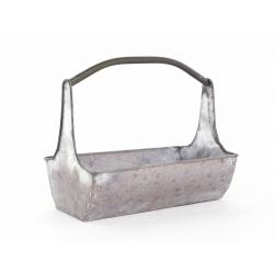 Contenant Zinc Rectangle avec Poignée 30 x 17 H 24 cm