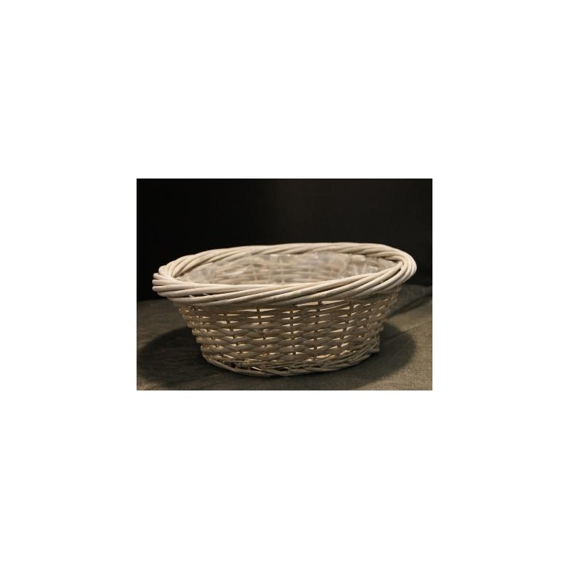 Coupe ronde osier gris D50 H17 cm