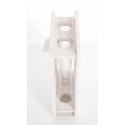 Suppot Bois Blanc + 2 Tubes Verres 21.7x14x6 cm