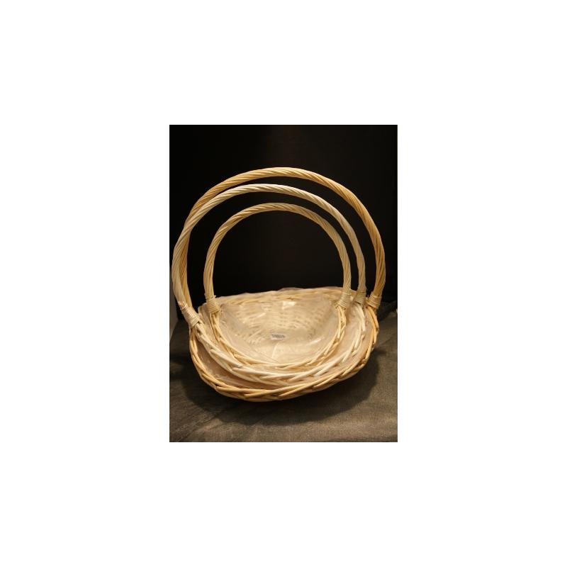 Glaneuses osier naturel - Set De 3