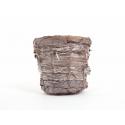Vannerie Pot Blanchie d 14 h 12 cm