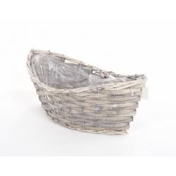 Vannerie Barque Grise 44 x 17 x16 cm