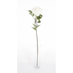 CILY - Rose ouverte artificielle H64 cm Blanc